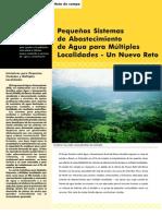 Pequeños sistemas de agua para múltiples localidades