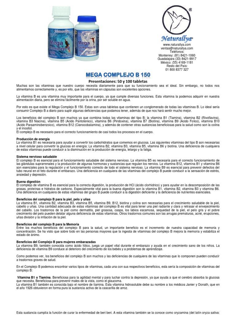 Carencia de vitaminas del complejo b