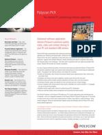 Videoconferencing Polycom Pvx Data Sheet