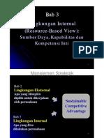 Bab 3 Lingkungan Internal