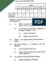 Chemistry 1991 Paper 1