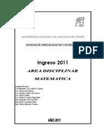 Cartilla Matematica 2011