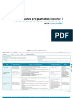 avance programatico de español 1