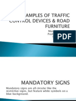 Examples of Traffic Control Devices & Road Furniture