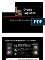 Logistics Oracle Proposed Solution