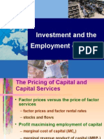 Investment and the Employment of Capital