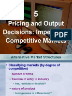 Pricing and Output Decisions in Imperfectly Competitive Markets