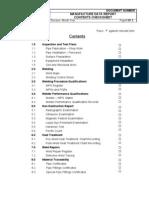 Manufacture Data Report SAMPLE Check Sheet