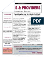Payers & Providers California Edition – Issue of November 3, 2011