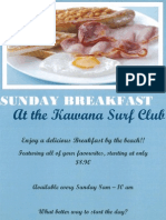 Kawana Surf Club | Sunday Breakfast