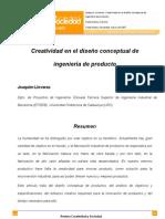 Creatividad y Sociedad. Creatividad en El Diseno Conceptual de Ingenieria de Producto