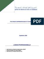 Politique d'Apprentissage Et d'évaluation Septembre 2006