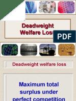 Deadweight Welfare Loss