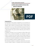 DIGNIFICACIÓN E INCLUSIÓN SOCIAL DEL ADULTO MAYOR
