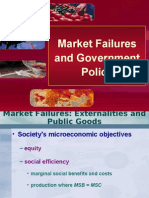 Market Failures and Government Policy
