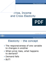 Price, Income and Cross Elasticity