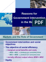 Reasons for Government Intervention in the Market
