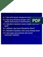 Questions MNJ Bank