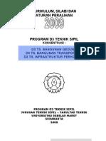 Kurikulum 2009 D3 Teknik Sipil