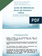 Legislación de Bibliotecas Públicas de America Latina. Análisis comparativo Colombia-México-Uruguay-Venezuela