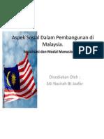 Aspek Sosial Dalam Pembangunan Di Malaysia