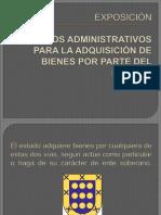 Medios Administrativos Para La Adquisicion de Bienes