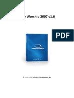 Software Presentation Easy Worship 2007 v1