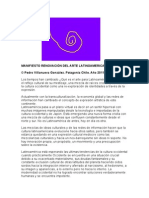 MANIFIESTO RENOVACIÓN DEL ARTE LATINOAMERICANO XXl (pdf)