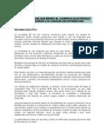 LA OPORTUNIDAD QUE BRINDA EL COMERCIO ELECTRÓNICO PARA MEJORAR LOS CANALES DE DISTRIBUCIÓN