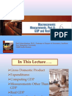 Macroeconomics Chapter 6:GDP and Real GDP