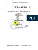 TIPOS de MATERIALES Materiales 1 Cesar Valenzuela c. Tarea 2.
