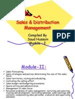 Sales & Distribution Management - Module 2