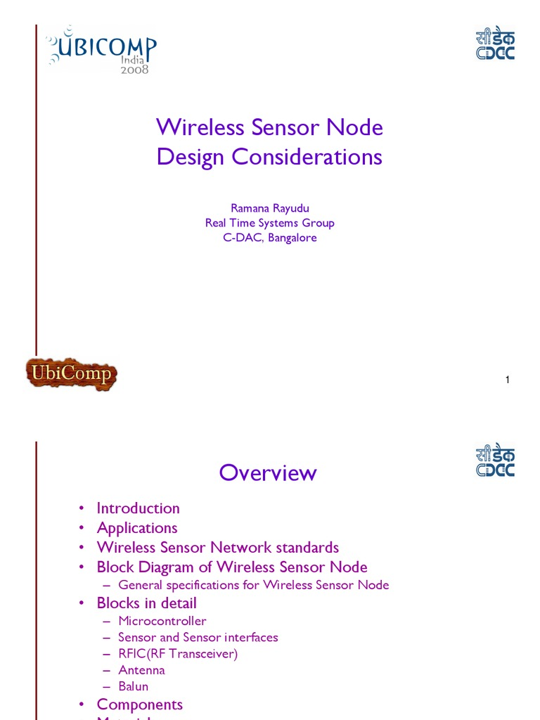 Design Considerations for Wireless Sensor Nodes | Wireless