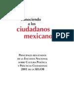 Conociendo a Los Ciudadanos Mexicanos ENCUESTA