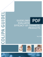 Colipa Guidelines Efficacy - Revised - 5 May 2008