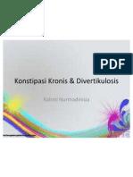 Konstipasi Kronis & Divertikulosis