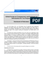 Global Forum on Transparency and Exchange of Information for Tax Purposes - Statement of Outcomes - Paris 2011