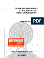 'BCR FM Bridgwater Radio Station Content Monitoring Report' by Grant Goddard