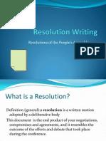 Resolution Writing PA