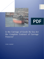 Is the Carriage of Goods By Sea Act (1992) the Complete Contract of Carriage Panacea?