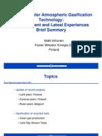Foster Wheeler Atmospheric Gasification Technology Presentation)