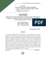 Order Case 102 of 2009