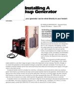 Installing a Backup Generator Popular Mechanics March 1998 (Merle Henkenius