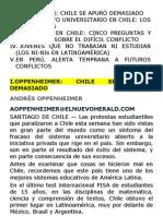 Futuro de la Educación Universitaria – Reflexión del Conflicto Universitario en Chile