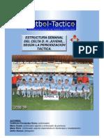 Microciclo del Celta Juvenil, periodización táctica