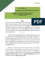 Food Import Regulations Draft(07!07!2011)