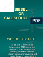 SIEBEL VS SALESFORCE