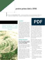 APLICAREA PENTRU PRIMA DATA A IFRS