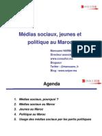 médias sociaux, jeunes et politique au maroc