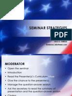 Seminar Strategies